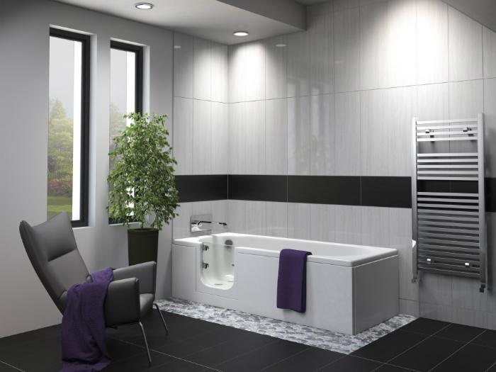 Abalone Walk in Bath Room Set