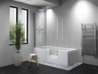 Carnelian Walk in Bath Room Set